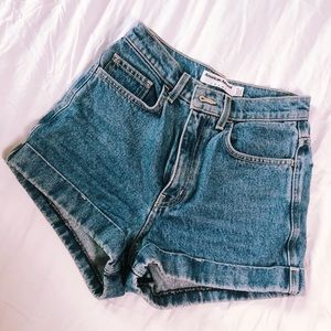 American Apparel Jean Shorts